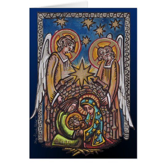 Christmas Nativity Scene Greeting Card