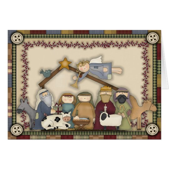 Christmas Nativity Scene Holiday card