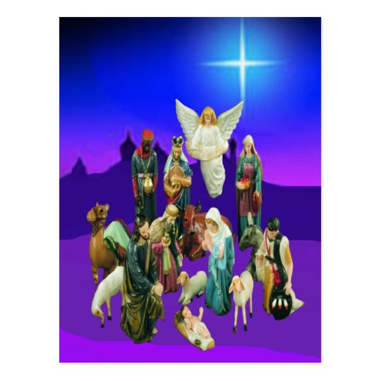 Christmas Nativity Scene Postcard