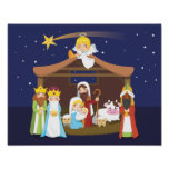 Christmas Nativity Scene Poster