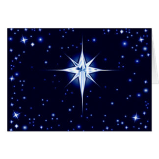 Christmas Nativity Star Greeting Card
