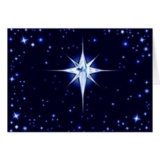 Christmas Nativity Star Greeting Card