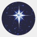 Christmas Nativity Star Round Sticker