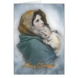 Christmas nativity The Madonna religious card
