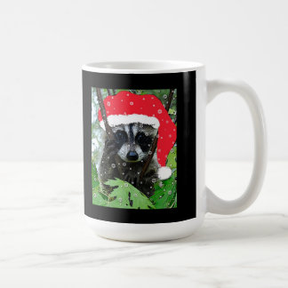 "Christmas ""Naughty"" Raccoon Mug"