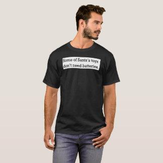 christmas naughty santa battery funny xmas humor T-Shirt