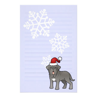 Christmas Neapolitan Mastiff Personalised Stationery