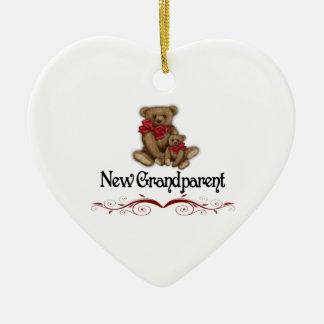 Christmas New Grandparent Ceramic Heart Decoration