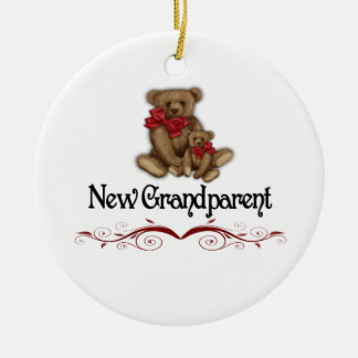 Christmas New Grandparent Round Ceramic Decoration