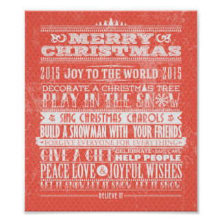 Christmas & New Year 2015 Inspirational Poster
