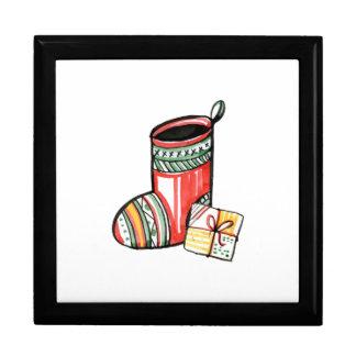 Christmas New Year Gift Santa Claus Boot Large Square Gift Box