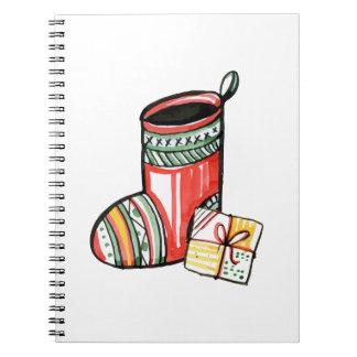 Christmas New Year Gift Santa Claus Boot Notebook