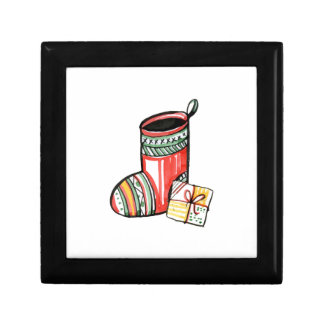 Christmas New Year Gift Santa Claus Boot Small Square Gift Box