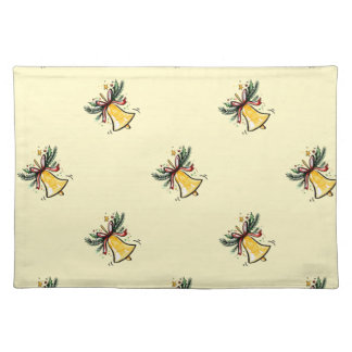 Christmas New Year Gift Yellow Jingle Bell Placemat