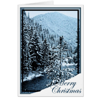 Christmas, New Year, Holiday- Little Spokane River Card