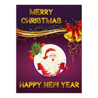 "Christmas New Year Invitation 6.5"" X 8.75"" Invitation Card"