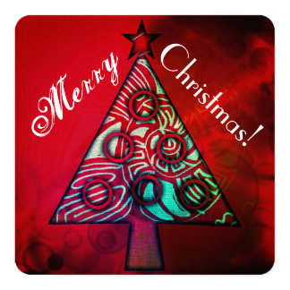 Christmas/New Year square greeting card w/greeting