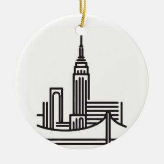 Christmas New York City Skyline Christmas Ornament