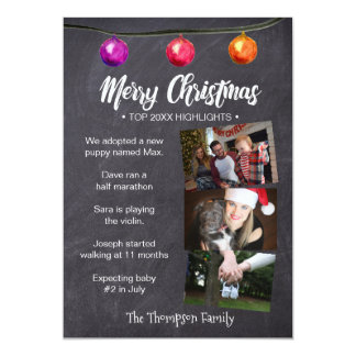 Christmas, Newsletter Style, Top Year Highlights Card