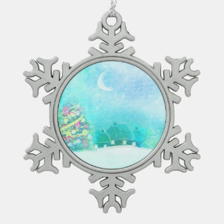 Christmas night Decoration Pewter Snowflake Decoration