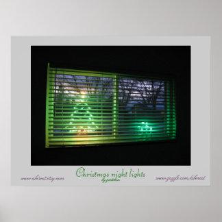 Christmas Night Lights Poster