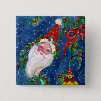 CHRISTMAS NIGHT / SANTA 15 CM SQUARE BADGE