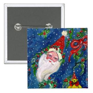 CHRISTMAS NIGHT / SANTA 15 CM SQUARE BADGE