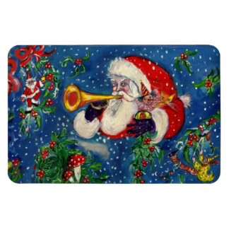 CHRISTMAS NIGHT / SANTA BUGLER RECTANGLE MAGNET
