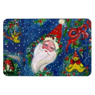 CHRISTMAS NIGHT / SANTA CLAUS RECTANGLE MAGNETS