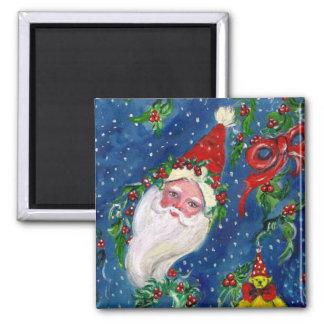CHRISTMAS NIGHT / SANTA SQUARE MAGNET