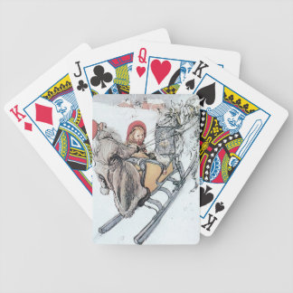 Christmas Nisse and Kirsti Bicycle Poker Cards