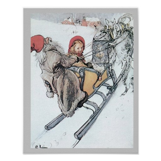 Christmas Nisse and Kirsti Poster