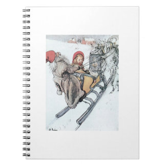 Christmas Nisse and Kirsti Spiral Note Books