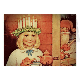 Christmas Nisse and Lucia Day Karin Card