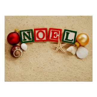 Christmas Noel at the Beach Poster