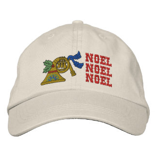 Christmas Noel Horn Hat Embroidered Hat