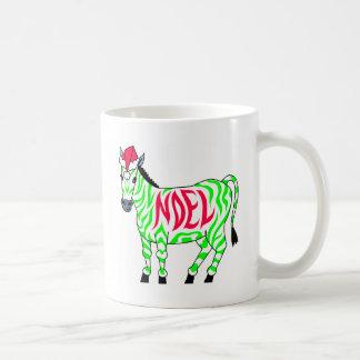 Christmas Noel Zebra Coffee Mug