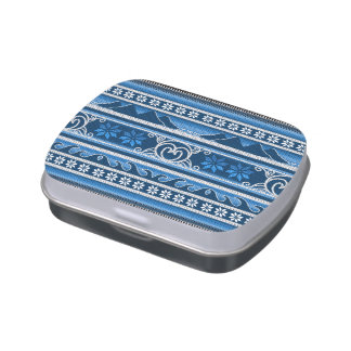 Christmas Nordic Blue Jelly Belly Tins