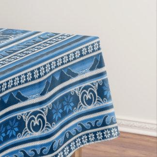 Christmas Nordic Blue Tablecloth