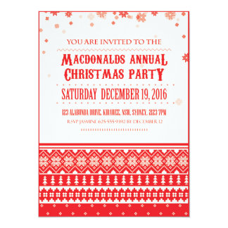 Christmas Nordic Scandinavian Holiday Invitations
