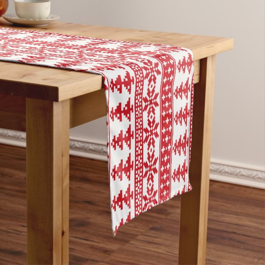 Christmas Nordic Sweater pattern table runner