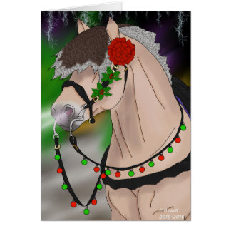 Christmas Norwegian Fjord Horse Card