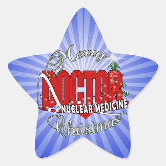 CHRISTMAS NUCLEAR MEDICINE STAR STICKER