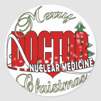 CHRISTMAS NUCLEAR MEDICINE ROUND STICKERS