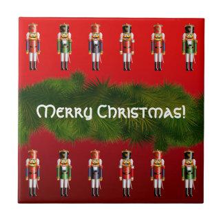 Christmas Nutcracker Ballet Small Square Tile