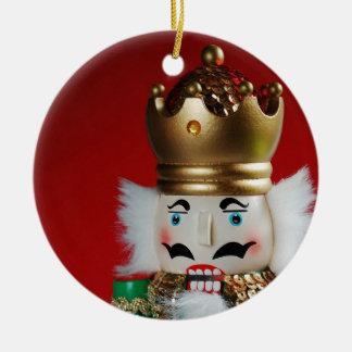Christmas nutcracker round ornament