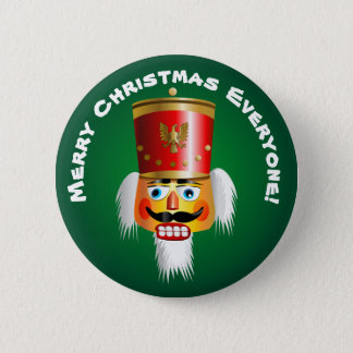 Christmas Nutcracker Toy-Soldier Cartoon 6 Cm Round Badge