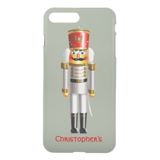 Christmas Nutcracker Toy Soldier In White Uniform iPhone