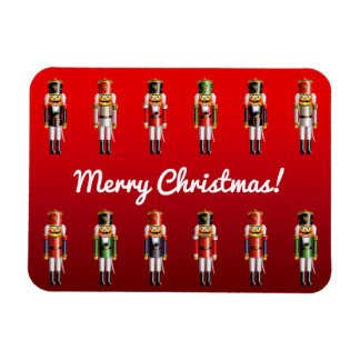 Christmas Nutcracker Toy Soldiers Rectangular Photo Magnet