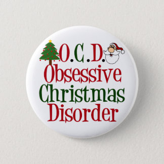 Christmas Obsession 6 Cm Round Badge